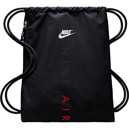Nike Unisex-Erwachsene Nk Heritage Gmsk 2-GFX Stofftasche, Schwarz Black/University, 8x15x20 Centimeters