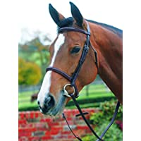 MARK TODD BRIDLE PLAIN RAISED WITH CAVESSON NOSEBAND FULL - HAVANA - TOD884141