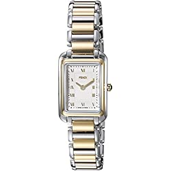 Fendi Women's Two Tone Steel Bracelet & Case Swiss Quartz Silver-Tone Dial Analog Watch F701124000