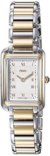 Fendi Women's Two Tone Steel Bracelet & Case Swiss Quartz Silver-Tone Dial Analog Watch F701124000