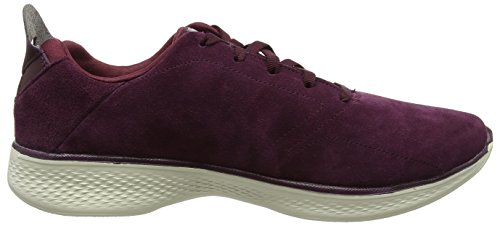 Skechers Go Walk 4, Baskets Basse Donna Rosso (bourgogne)