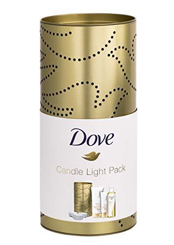 Dove 3er Geschenkpack mit Windlicht (Pflege&Öl Duschöl 200 ml, Derma Spa Intensiv Verwöhnend³...