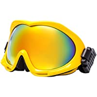 Calistouk doppia lente antinebbia occhiali da sci occhiali protettivi sportivi occhiali da moto invernali 2700, White