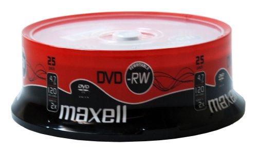 Maxell 275893.59.GB DVD-RW Spindel (4,7GB, 2x Schreibgeschwindigkeit) (25 Stück)