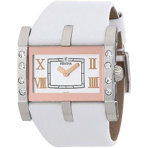 Festina F16361/4 - Reloj analógico de cuarzo para mujer con correa de piel, color blanco
