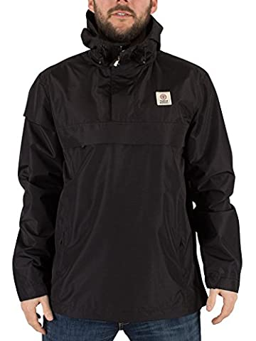 Franklin & Marshall Homme Logo Front Zip Pocket Jacket, Noir, X-Large