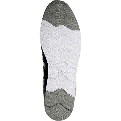Gabor  64.323.61, Chaussures de ville à lacets pour femme Silber
