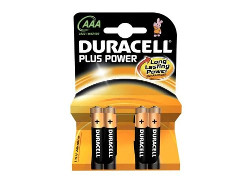 Batterie Duracell Plus Power MN2400 / LR03 Micro AAA (4 pièces)