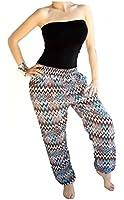 Damen Hose Haremshose Freizeithose Hose mit Muster Baumwolle Sommerhose