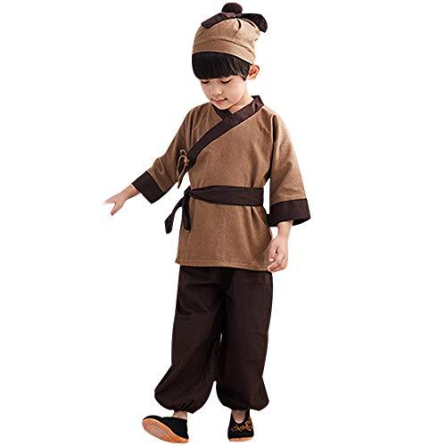 KINDOYO Hanfu Kostüme Chinesisch Kleide - Chinesische Herrlich Kostüme der Alten Kinder Jungen Nationale Schuluniform Cosplay Party - Herr China National Kostüm