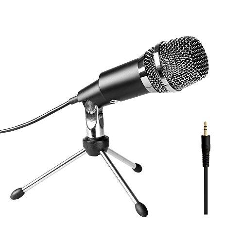 Preisvergleich Produktbild PC-Mikrofon, Fifine TM, 3.5MM Plug & Play, Heimstudio, herzförmiges Tisch-Kondensatormikrofon für Skype, Aufnahmen für YouTube, Google Voice Search,Spiele-K667