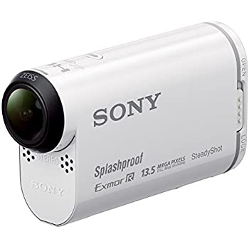 Sony HDR-AS100VR Action Cam con Wi-Fi e GPS Integrato e Telecomando Live View incluso, Controlla fino a Cinque Action Cam Contemporaneamente anche a distanza, Bianco
