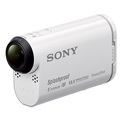Sony HDR-AS100V Action Cam con Wi-Fi e GPS, Bianco