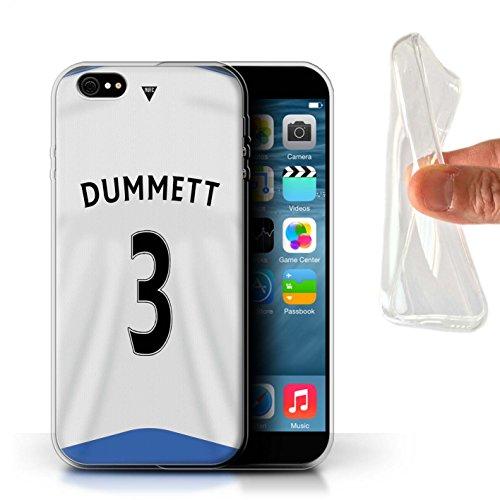 Offiziell Newcastle United FC Hülle / Gel TPU Case für Apple iPhone 6S+/Plus / Pack 29pcs Muster / NUFC Trikot Home 15/16 Kollektion Dummett