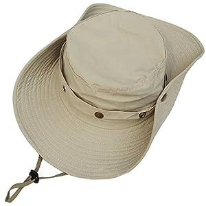 Leben Men Women Summer Adjustable Outdoor Travel Sport Wide Brim Sun Hat Travel Headwear Fishing Cap With Strap