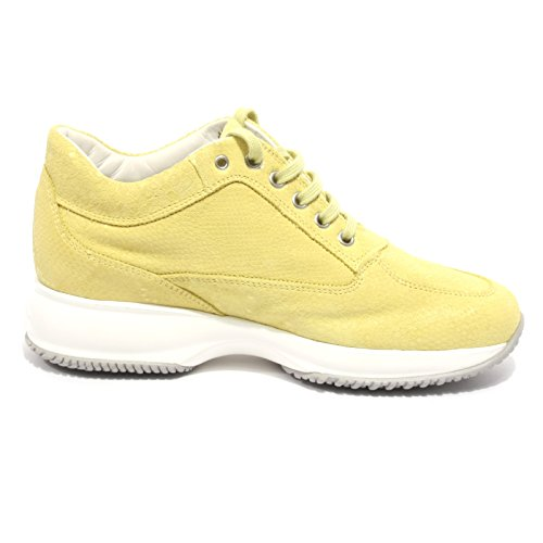 B2068 sneaker donna HOGAN INTERACTIVE H STRASS giallo shoe woman Giallo