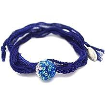 8b14182e5e4a2 Les Bijoux Acidulés - Bracelet Comète Strass en Cristal Swarovski Element  et Ruban de Soie -