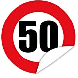 Zahl 50 Aufkleber - Geburtstags Geschenk Idee