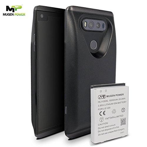LG V20 Verlängerte Batterie 9300mAh Mugen Power | Batteriefachdeckel Unterstützung NFC | Android bezahlen | Verbessern Sie das HF-Signal 12 Monate Herstellergarantie (Titan) (Tv Back-up-batterie)