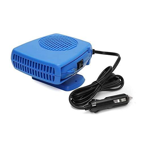 LBAFS Ventilateur De Chauffage De Chauffage De Voiture - 12V FenêTre De Pare-Brise DéSembuage Automatique Mini Chauffant De Voiture Portatif,Blue