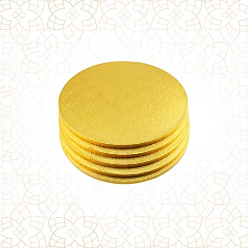 5 x Cake Drum 23 cm rund GOLD (13 mm) - Cakeboard CULPITT Gold Cake Drum