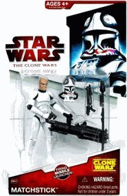 Hasbro 91276 - Star Wars: The Clone Wars - Clone Trooper CW34 Matchstick mit ()