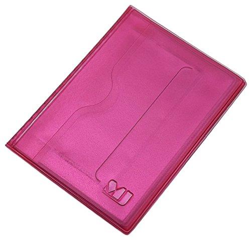 Praktisches Ausweisetui / Ausweishülle / Kreditkartenetui 12 Fächer MJ-Design-Germany in verschiedenen trendigen Farben Made in EU (Rosa)