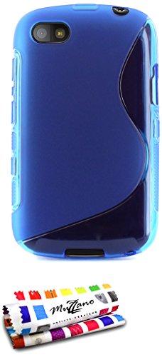 Ultraflache weiche Schutzhülle BLACKBERRY 9720 SAMOA [Le S Premium] [Blau] von MUZZANO + STIFT & MICROFASERTUCH MUZZANO® GRATIS - Das ULTIMATIVE, ELEGANTE UND LANGLEBIGE Schutz-Case für Ihr BLACKBERRY 9720 SAMOA
