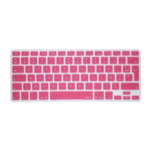 "MiNGFi Français Clavier Coque de Protection / Couverture AZERTY pour MacBook Pro 13"" 15"" 17"" et Air 13"" EU/ISO Keyboard Disposition Silicone Skin - Rose / Pink"