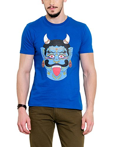 Yepme Men's Blue Graphic T-Shirt -YPMTEES0243_M  available at amazon for Rs.179