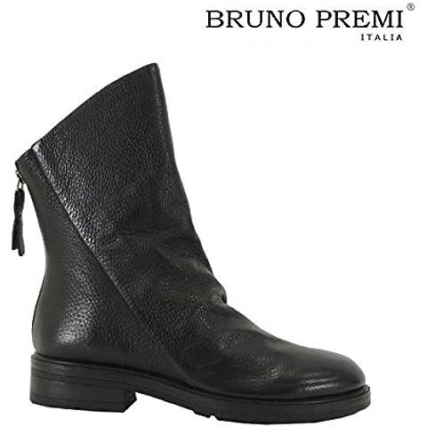 Bruno Premi I1904X stivali donna pelle martellata stivaletti bassi made in Italy
