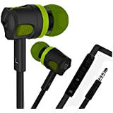 BS Power 3.5MM Rugged head in-ear Headphone With Mic & Volume Controller for All Devices (Green)