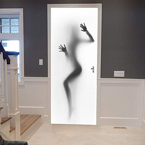 xy mädchen badezimmertür Aufkleber DIY abnehmbare 3D tür Mural Aufkleber wasserdicht für Wand Zimmer wohnkultur Dekoration ()