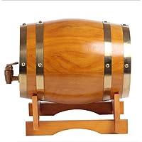 Barril de vino Multifuncional 3L-50L Oak Barrel Wine Barrels Wine Barrel Wine Level Decoración del hogar Barril de Cerveza Madera Color (Color : Amarillo, Tamaño : 15L)