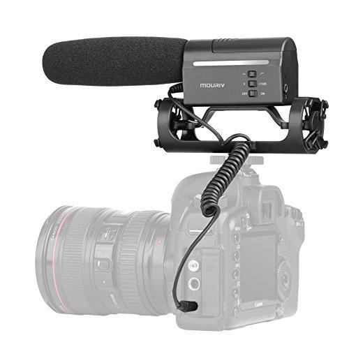 Richtrohrmikrofon,Mouriv VMC355 Kamera Mikrofon Externe Shotgun Mic Photografie Interview Professionelle DV Stereo Mikrofon Kamera Stereo Mikrofon für DSLR Nikon Canon DV Camcorder