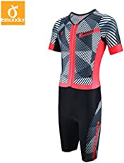 SRS Triathlon Suit Men Pro Team Cycling Clothing Skinsuit Jumpsuit -Silver-Parent