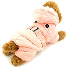 selmai pequeño perro sudaderas con capucha invierno abrigo de mono forro polar mascota gato prendas de vestir sólido