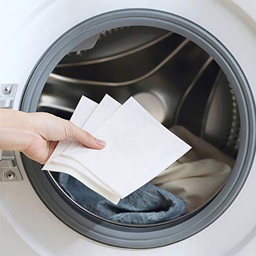 Foglio per assorbire il colore, panno per bucato e carta colorata.