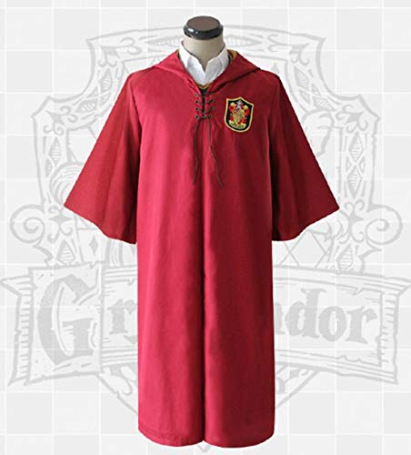 Kostüm Quidditch Cosplay - Quidditch Magician es Cloak Robe for Boys and Girls Birthday Holiday Gifts, Halloween Kostüm-Party, Anime Peripheral Products, Realizing The Magician ' s Dream for Your Child,Gryffindor