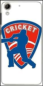 Snoogg Cricket Logo Designer Protective Back Case Cover For HTC Desire 728