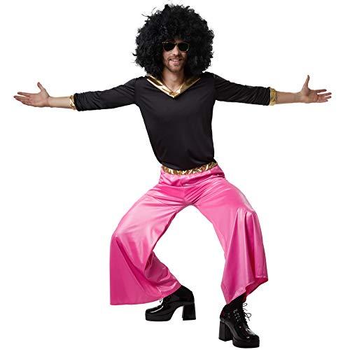 dressforfun 900502 - Herrenkostüm Funky Disco Dancer, Zweiteiliges und farbenprächtiges Disco-Outfit (XXL | Nr. 302406) (Disco-outfit Männer Für)