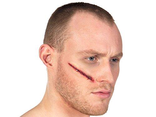 Alsino Effekt Wunden Wundenset Halloween Zombie Horror Make up Fake Latex Wunde, Variante wählen:72200 ()