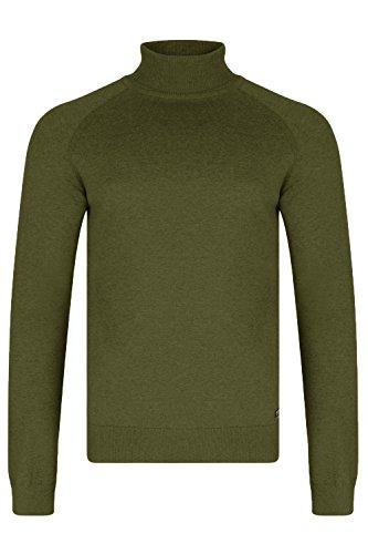 Threadbare Herren Logan Rollkragen Pullover Moss Marl - Green