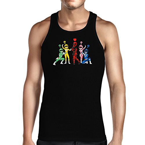 Okiwoki Parodie auf Deadpool und Power Rangers - Comics Herren Tank Top (889)