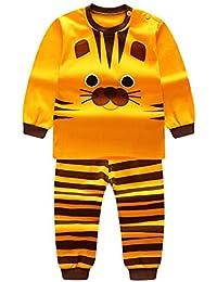 Qlan Enfants Filles Garçons Pyjamas Set Vêtements de Nuit Vêtements de Nuit  Pyjamas ... 0ceef36dee5