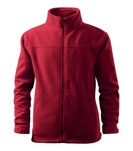 WearYourBrand Kinder Fleecejacke Outdoor Pullover Fleece (rot, 122 cm/6 Jahre)