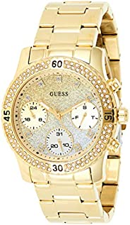 Guess Women's Gold Dial Stainless Steel Band Watch - W07