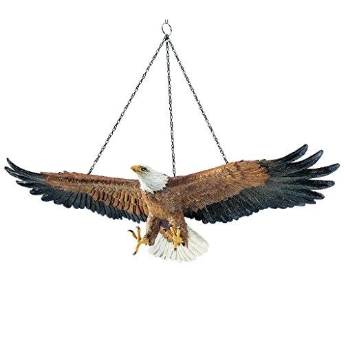 Design Toscano Hängender Adler Skulptur, Maße: 21,5 x 19,5 x 12 cm