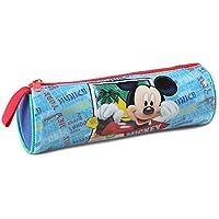 Atosa-33235 Disney Estuche Niño Mickey De Tubo, Color Celeste, 217 cm (33235)