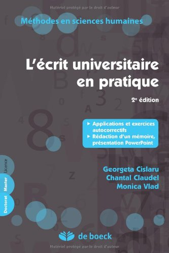 L'Ecrit Universitaire en Pratique